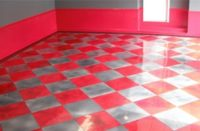 "Michael R. Jensen is CEO and artist at Atlanta Concrete Artist, billed as a purveyor of ""exotic designer flooring."" He recently completed an epoxy garage floor for a car enthusiast in Sandy Springs, Ga."
