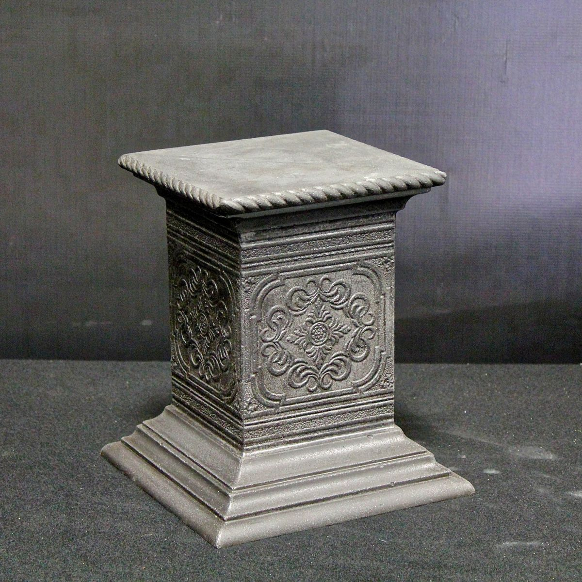 Carved Concrete Pedestal Jack Smithson of Cathedral Liquid Stoneworks Cornville, Arizona