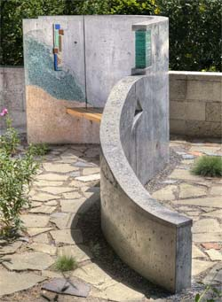 sculptural concrete art, outdoor concrete precast wall