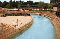 Another look at the lazy river that runs through the resort.