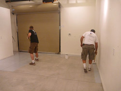 Surface prep is the most important part of any epoxy coating for concrete. Without good adhesion the job is a loser.