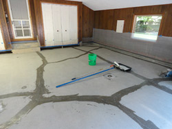 Addressing cracks is part of any professional floor install. Help your client set expectations regarding why concrete cracks and how you will repair it.