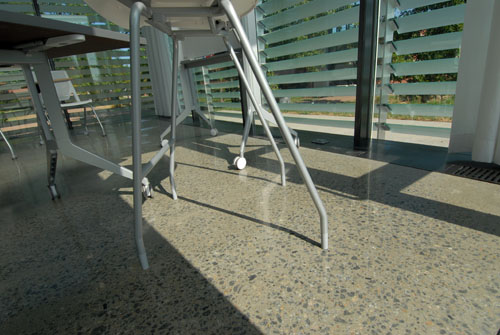 Polished Concrete: Galileo's Pavilion, Johnson County Community College, Overland Park, Kan.