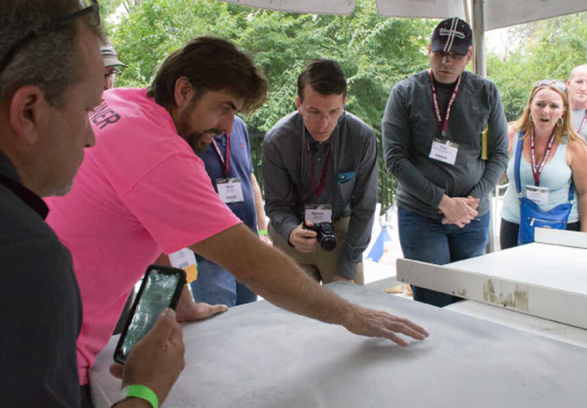 Jeff Kudrick leading a training at the Concrete Decor Show