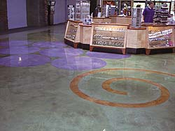 Concrete stains are perfected on the floors of Las Vegas casinos