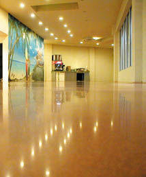 Highly reflective polished concrete