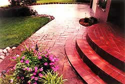 Solomon Colors end results are quality and deeply colored as see on this walkway and rounded step.