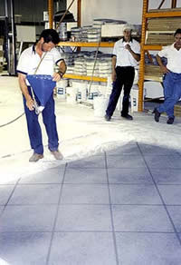 Stencils can be used when resurfacing concrete giving depth and dimension to an existing concrete surface.