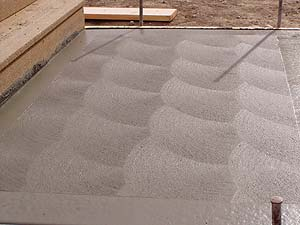 Brushed Or Broomed Finishes To Concrete