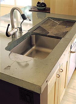 Cheng Concrete Countertop created from NeoMix for countertops