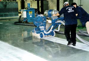 The shot blaster is easy to use compared to other machines in decorative concrete