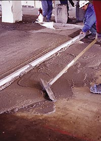 ardex makes a light weight concrete mix that has all of the strength as heavy original concrete