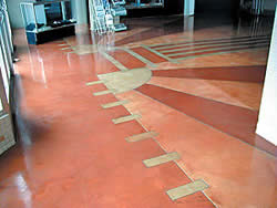 Historical theater gets stained concrete makeover.