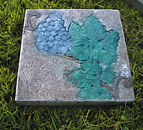 Recycling concrete by making stepping stones as gifts is a quick and simple way to not waste materials.