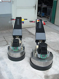Planetary Polishers ready for some action polishing concrete.