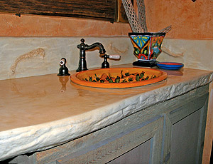 The concrete countertop edge forms present a range of stylistic opportunities to contractors, who may stain them to look like their natural inspirations or get creative.