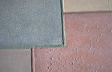 Integral Color - First, manage expectations. Don't promise an impossible outcome. Instead point out (or better yet, demonstrate) the attractive, durable, natural look integrally colored concrete can produce.