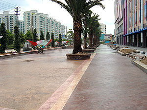 SCP Chinese Street using Specialty Concrete Products