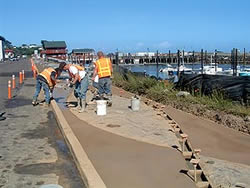 "Bandon Boardwalk Construction - The North Bend, Ore., artisan consulted with the walkway's planning architect before it even went to bid. ""A lot of architects up here on the Oregon Coast don't understand a lot about decorative concrete,"" he says. When the Port of Bandon finally put the ""Meandering Walkway"" project out for bid, Brock Construction won the contract."