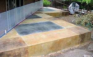 Brian Vacari, the Concrete Colorist, Patio - This patio was colored entirely with multiple applications of acid stain.