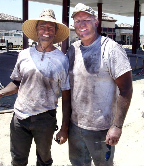 "Discovery Channel's Dirty Jobs and Richard Smith - When Discovery Channel's Dirty Jobs show called Richard Smith Custom Concrete about sending host Mike Rowe out to a decorative concrete job site for a day, Rick Smith rubbed his hands with glee, thinking to himself, ""We're gonna get this guy filthy!"""