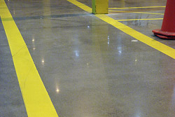 A Concrete Floor is a Renewable Resource - As the exhaust settles, the carbon dioxide, due to its low solubility in water, interacts with the cement paste and interferes with the hydration process, causing the surface area to dry out.