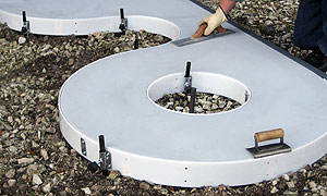 totally new concept in radius concrete forming. It's called Xtra-Flex.
