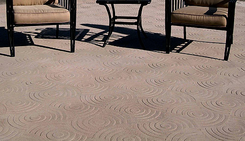 Reflections Stamp for Decorative Concrete - Richard Smith Custom Concrete and Matcrete develop a stamping tool that creates a design on concrete using light and shadow rather than relying on secondary colors to make its mark.