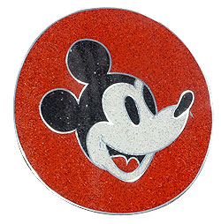 Cartoon characters are used to show potential customers the vivid colors possible with PT-300 - Mickey