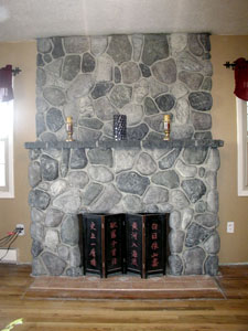 "Synthetic Rock Fireplace using GFRC - Whatever technique is used, it is as much an art as a science. Long says it boils down to ""a certain amount of natural artistic ability — what looks right to the eye."