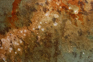 Another look at a reactive stain on concrete.
