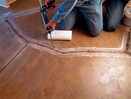 Reparing Decorative Concrete - There are all sorts of variables to consider when repairing a decorative concrete floor.