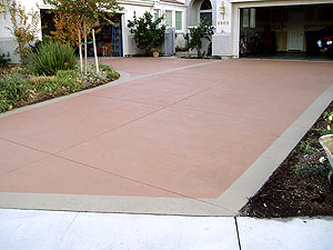 A driveway shown after restoration