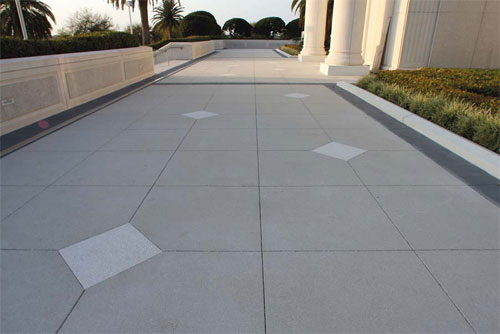 Decorative Concrete Sidewalk in front of an LDS church.
