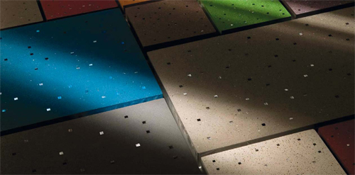 Sensitile Terrazzo tiles respond to changes in light.