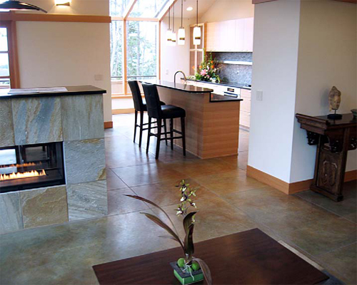 SoyCrete Architectural Concrete Stain is a great alternative to acid stained concrete